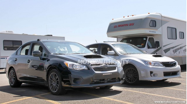 2015 Subaru WRX test mule spy shots