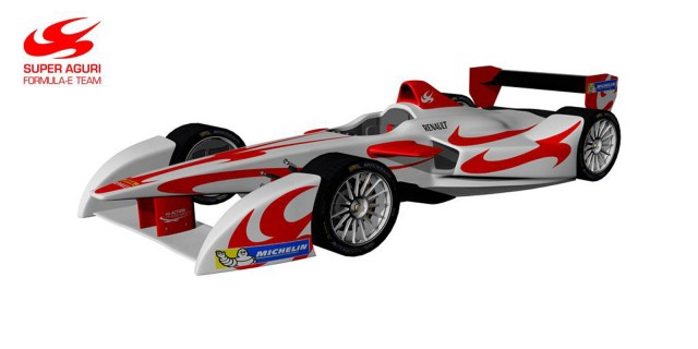 2014 Super Aguri Formula E electric race car