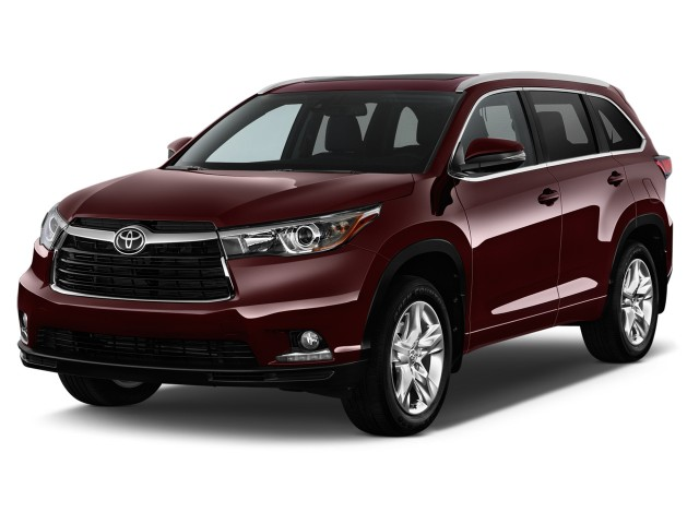 2014 Toyota Highlander FWD 4-door V6 Limited Platinum (Natl) Angular Front Exterior View