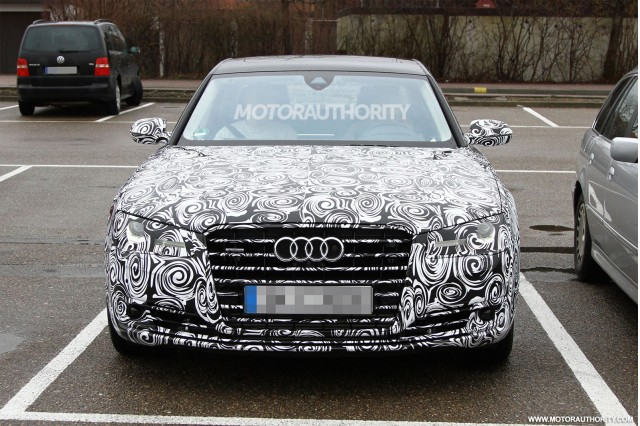 Captivating 2015 Audi A8 Facelift Spy Shots