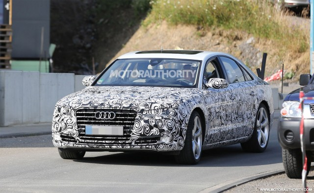 2015 Audi A8 facelift spy shots