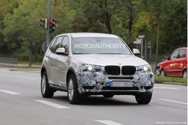 2015 BMW X3 facelift spy shots