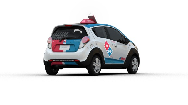 Hot Pizza: Domino's DXP $25K Chevy Spark Includes Warming Oven