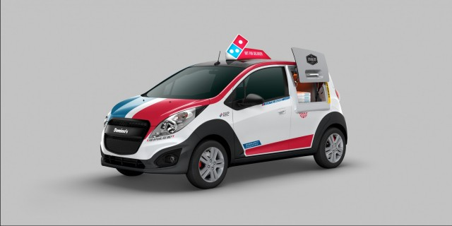 Hot Pizza Dominos Dxp 25k Chevy Spark Includes Warming Oven