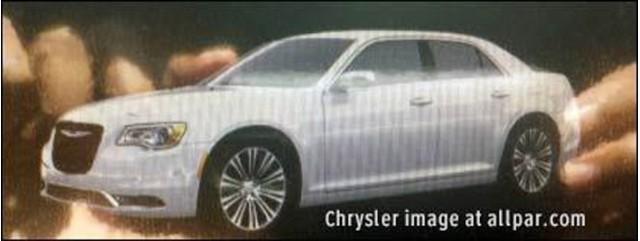 2015 Chrysler 300 leaked (Image via Allpar)