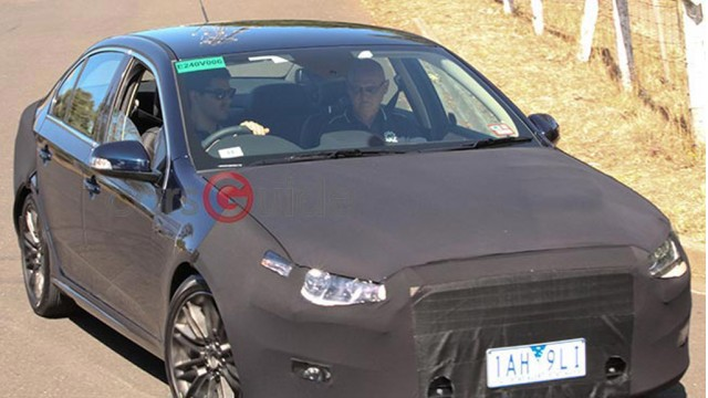 2015 Ford Falcon spy shots - Image via James Stanford, Carsguide