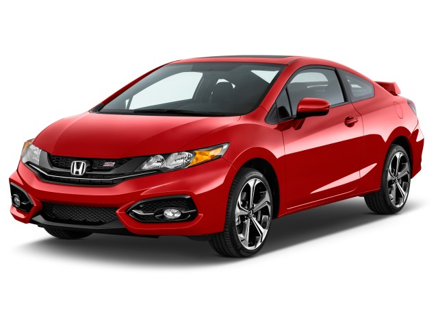2015 Honda Civic Coupe 2-door Man Si Angular Front Exterior View