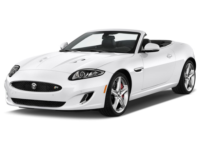 2017 Jaguar Xk 2 Door Convertible Xkr Angular Front Exterior View