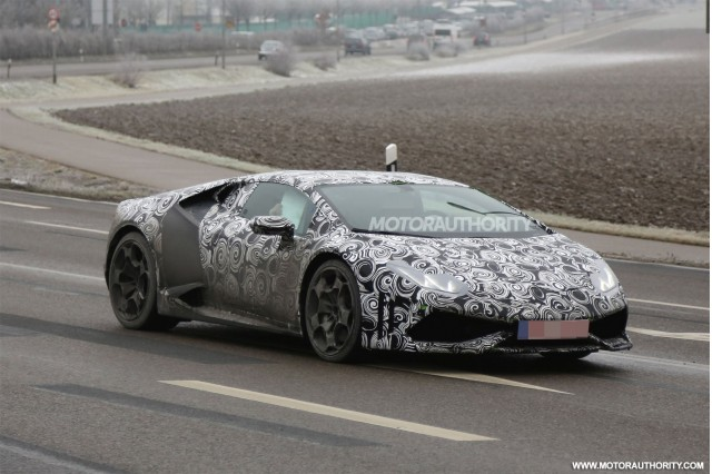 2015 Lamborghini Huracan (Gallardo replacement) spy shots