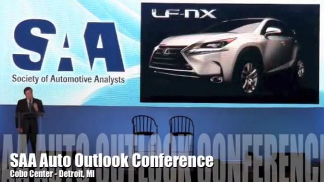 2015 Lexus NX allegedly shown in presentation slide