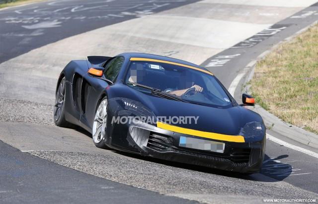 2015 McLaren P13 test mule spy shots