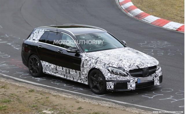 2015 Mercedes-Benz C63 AMG Estate spy shots