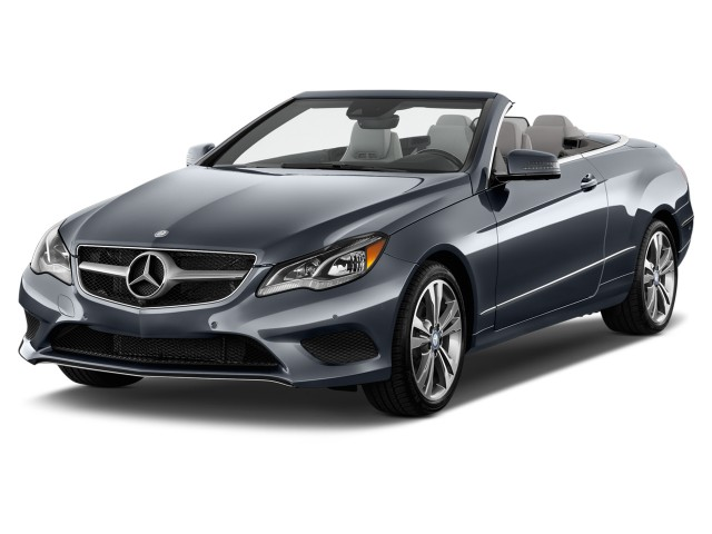 2015 Mercedes-Benz E Class 2-door Cabriolet E400 RWD Angular Front Exterior View