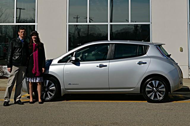 2015 Nissan Leaf at Quirk Nissan, Quincy, MA [photo: John C. Briggs]