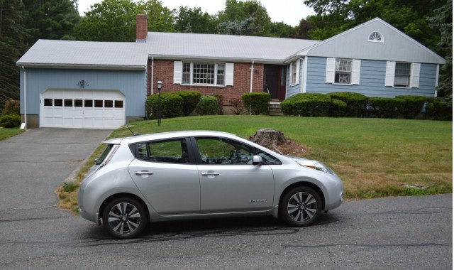 2015 Nissan Leaf at start of 1,000-mile road trip [photo: John Briggs]