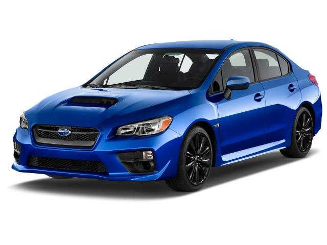 2015 Subaru WRX 4-door Sedan Man Angular Front Exterior View