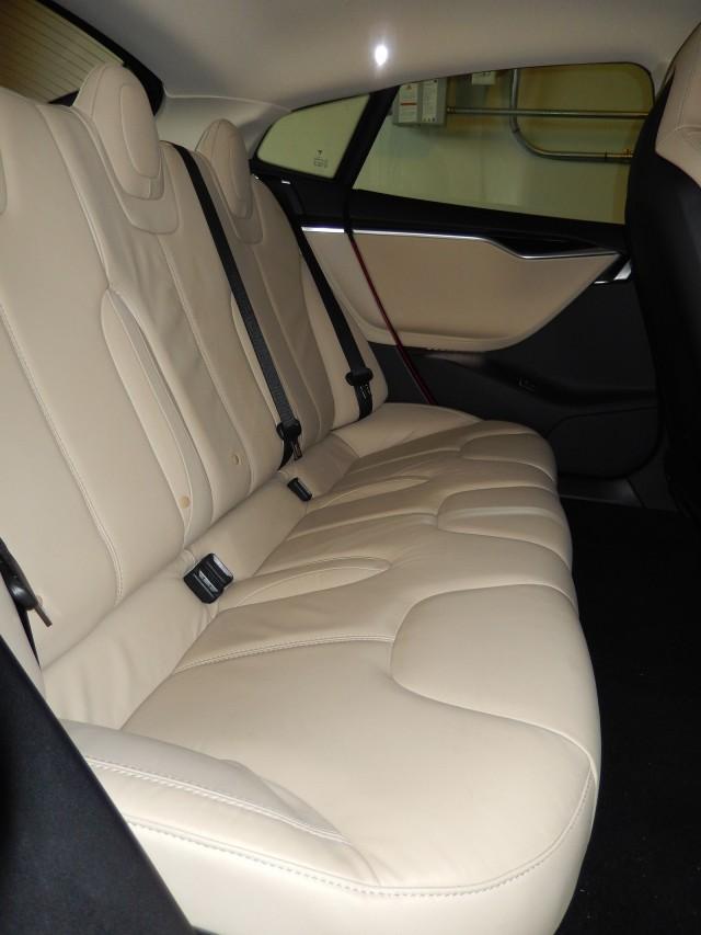 2013 Tesla Model S - old rear seat design[photo: owner George Parrott]