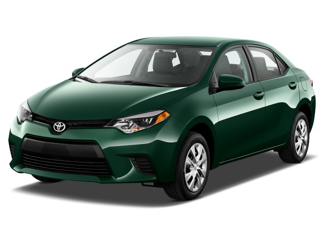 2015 Toyota Corolla 4-door Sedan CVT LE ECO (Natl) Angular Front Exterior View