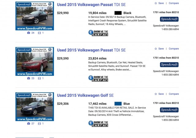 Asking Prices Climb For Used Vw Tdi Diesels As Buybacks