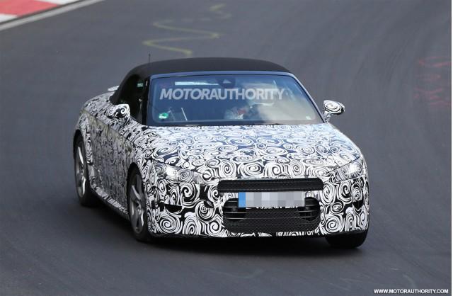 2016 Audi TT Roadster spy shots