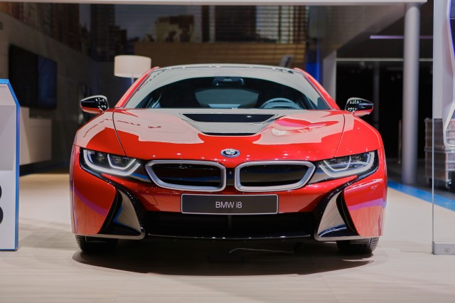 BMW i8 Protonic Red Special Edition Live Photos, 2016 Geneva Motor Show