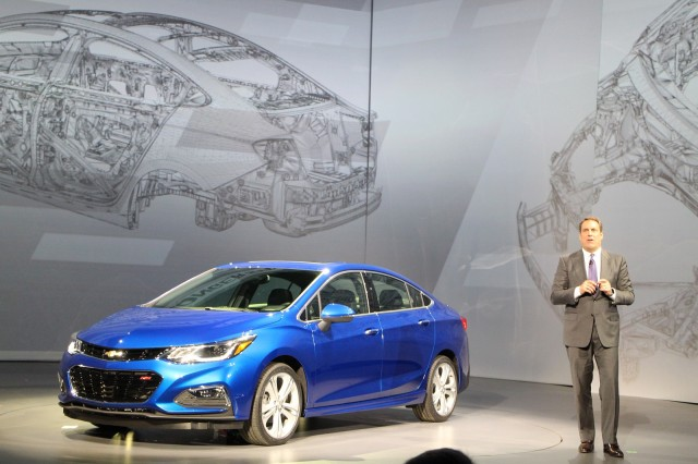 2016 Chevrolet Cruze with Mark Reuss unveiling, Detroit, Jun 2015