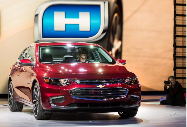 2016 Chevrolet Malibu Hybrid launch - 2015 New York Auto Show