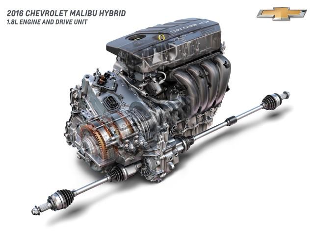 2016 Chevrolet Malibu Hybrid - drive unit cutaway