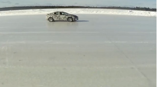 2016 Chevrolet Volt testing on ice surface [screen capture from teaser video]