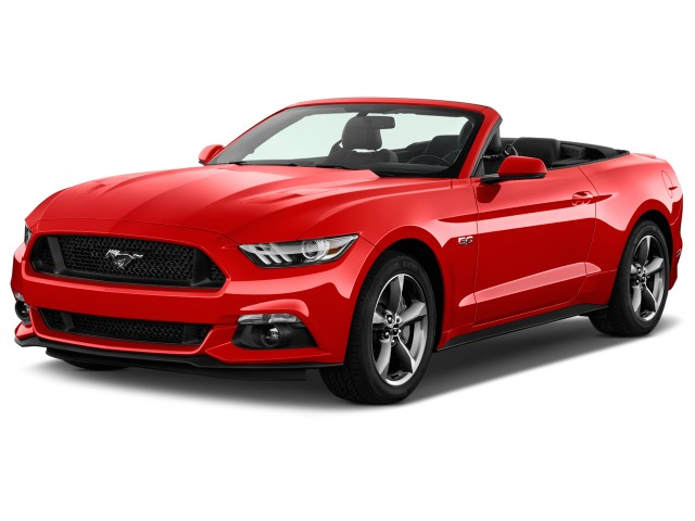 2016 Ford Mustang 2-door Convertible GT Premium Angular Front Exterior View