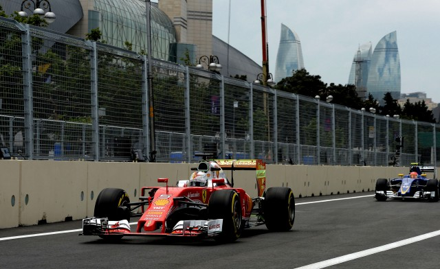 2016 Formula One European Grand Prix practice session at Baku City Circuit