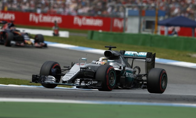 Mercedes AMG's Lewis Hamilton at the 2016 Formula One German Grand Prix