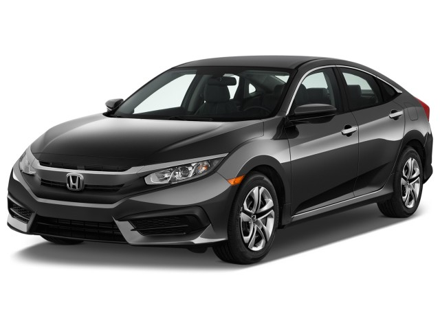 2016 Honda Civic 4-door CVT LX Angular Front Exterior View
