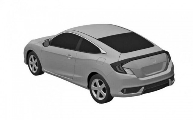 2016 Honda Civic Coupe leaked patent drawing - Image via Gizmag