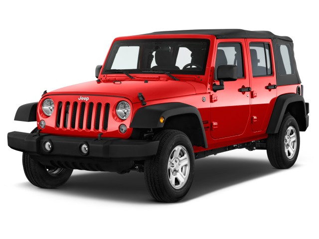 2016 Jeep Wrangler Unlimited 4WD 4-door Sport Angular Front Exterior View