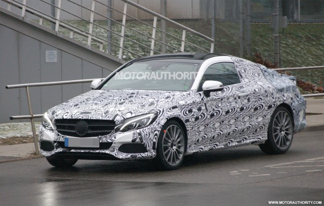 2016 Mercedes-Benz C-Class Coupe spy shots - Image via S. Baldauf/SB-Medien