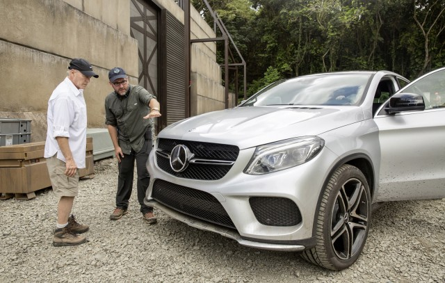 2016 Mercedes-Benz GLE450 AMG Sport on the set of Jurassic World