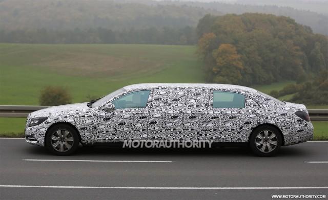 2016 Mercedes-Maybach S-Class Pullman spy shots - Image via S. Baldauf/SB-Medien