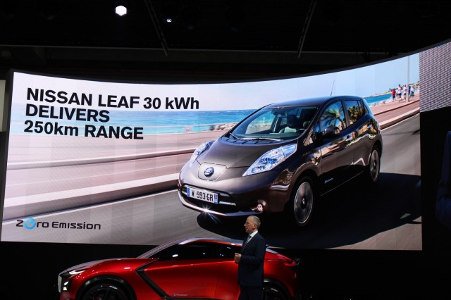 2016 Nissan Leaf Range Quoting At 250 Km (155 Miles) In Europe, Frankfurt