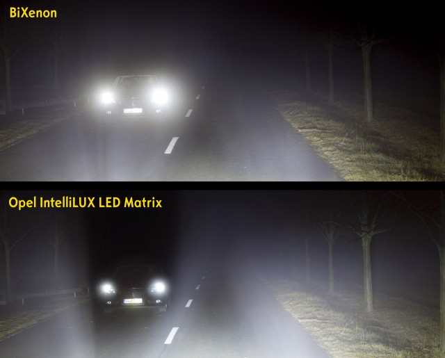 2016 Opel Astra's Matrix LED headlights