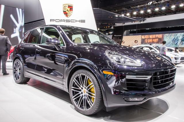 2016 Porsche Cayenne Turbo S live photos, 2015 Detroit Auto Show