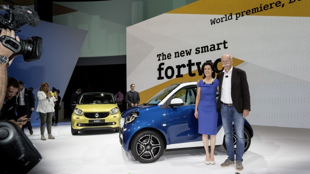 2016 Smart ForTwo and Smart ForFour (European models), global launch, Berlin, July 2014