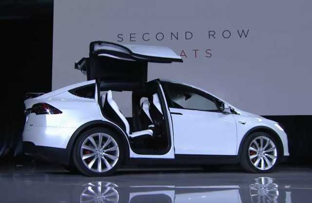 2016 Tesla Model X Electric Suv So About Those Falcon Doors