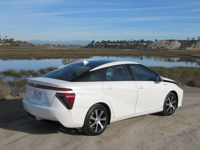 2016 Toyota Mirai hydrogen fuel-cell car, Newport Beach, CA, Nov 2014