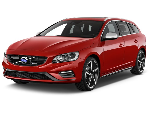 2016 Volvo V60 4-door Wagon T6 R-Design AWD Angular Front Exterior View