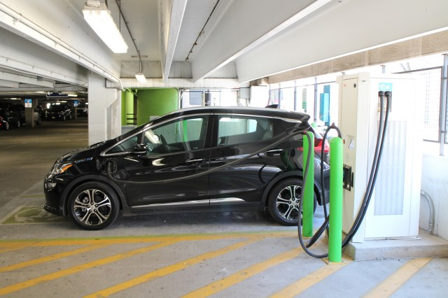 2017 Chevrolet Bolt Ev Electric Car At Evgo Fast Charging Station Newport Centre