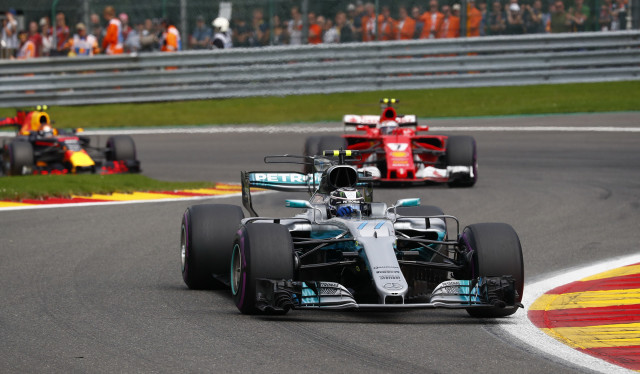 Mercedes AMG's Lewis Hamilton at the 2017 Formula 1 Belgian Grand Prix