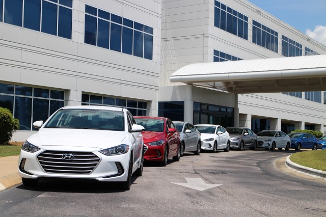 2017 Hyundai Elantra Eco road trip, May 2016 - starting point at factory in Montgomery, Alabama
