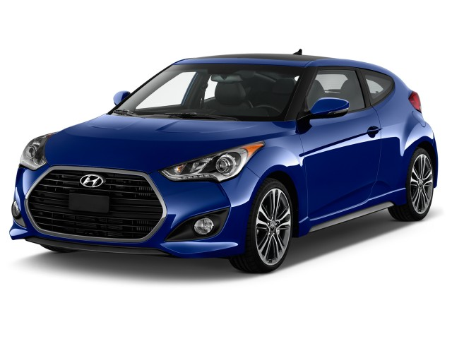 2017 Hyundai Veloster Turbo Manual Angular Front Exterior View