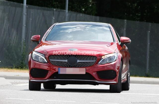 2017 Mercedes-Benz C-Class Coupe spy shots - Image via S. Baldauf/SB-Medien